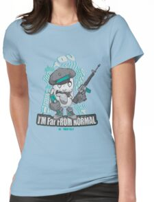Far from normal Womens Fitted T-Shirt