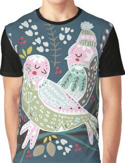 Holiday Birds Love II Graphic T-Shirt