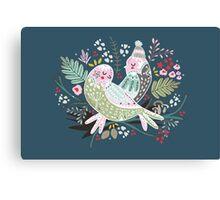 Holiday Birds Love II Canvas Print