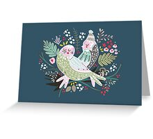 Holiday Birds Love II Greeting Card