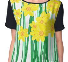 Springtime Daffodils. Chiffon Top