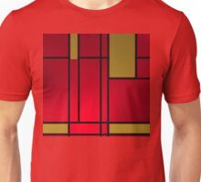 Composition 13 over red with golden squares Unisex T-Shirt