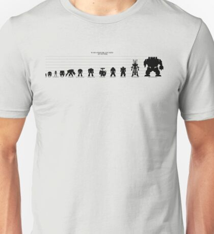 Warhammer 40k Size Chart Unisex T-Shirt
