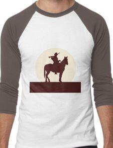 Red Sunset Men's Baseball ¾ T-Shirt