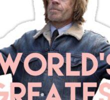 Shameless frank- world's greatest dad Sticker