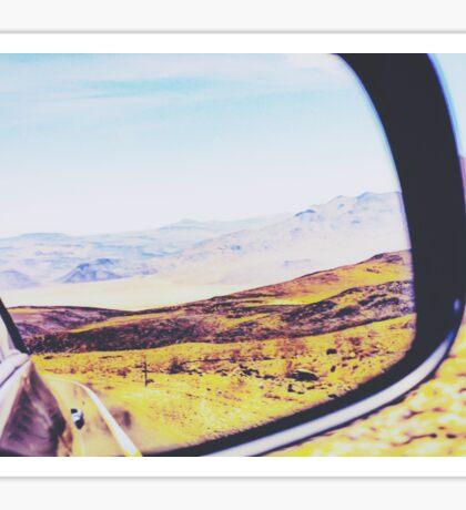 road trip in the desert Sticker