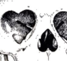 Heart Eyed Skull Sticker