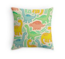 Dinosaur party Throw Pillow