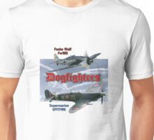 Dogfighters: Spitfire vs Fw190 Unisex T-Shirt