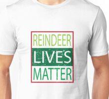 Reindeer Lives Matter Movement Funny Humorous Family Matching PJ's Unisex T-Shirt
