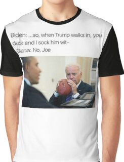 Joe Biden Funny Meme Obama T-Shirt Graphic T-Shirt
