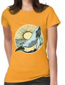 Morning sun whale 2.  Womens Fitted T-Shirt
