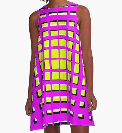 Pink Polynomial A-Line Dress