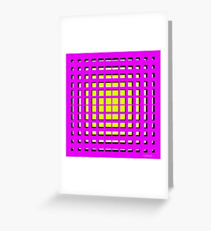 Pink Polynomial Greeting Card