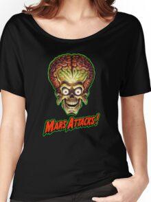 Mars Attacks Alien Head Women's Relaxed Fit T-Shirt