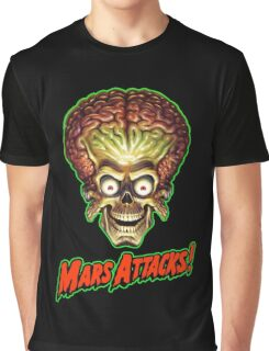Mars Attacks Alien Head Graphic T-Shirt