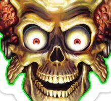 Mars Attacks Alien Head Sticker