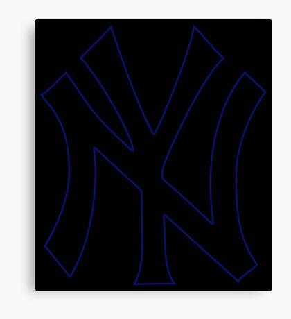 °BASEBALL° NY Yankees Neon Logo Canvas Print