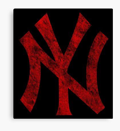 °BASEBALL° NY Yankees Rust Logo Canvas Print