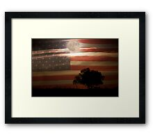 American Country Supermoon Framed Print