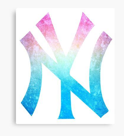 °BASEBALL° NY Yankees Rainbow Logo Canvas Print