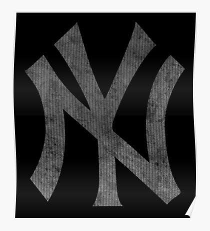 °BASEBALL° NY Yankees B&W Logo Poster