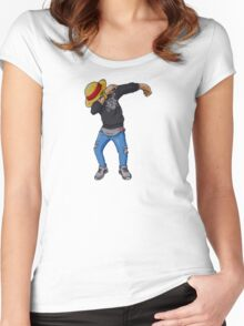 Luffy is Dab Women's Fitted Scoop T-Shirt