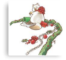 For Santa Cat 2 Canvas Print