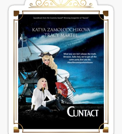 Contact Movie Poster With Katya and Trixie Sticker