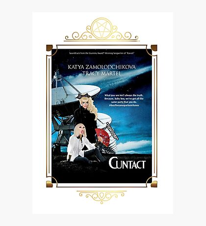 Contact Movie Poster With Katya and Trixie Photographic Print