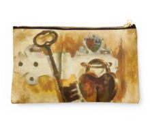 Heart Shaped Lock With Key Studio Pouch
