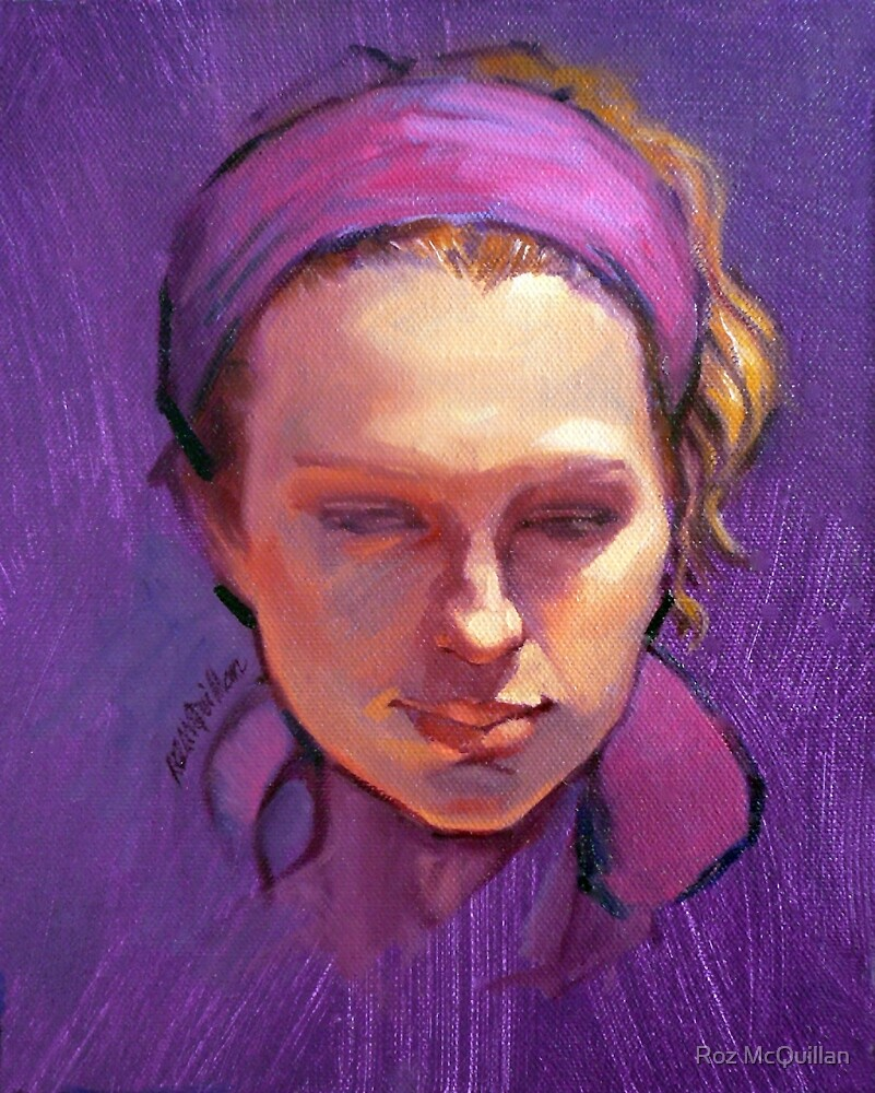 Portrait of Phoebe : Oil Painting by Roz McQuillan