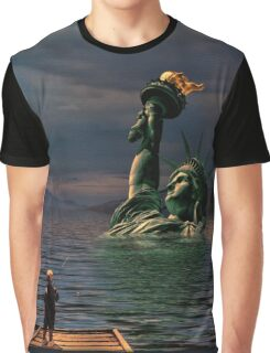 Fishin' With Lady Liberty Graphic T-Shirt