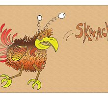 Skwack with color background by Timothy Dooris