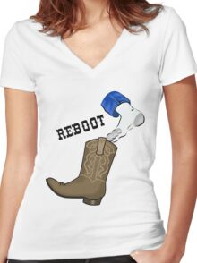 ReBOOT Women's Fitted V-Neck T-Shirt