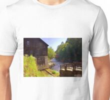 Old Mill And Covered Bridge At McConnells Mill State Park PA Unisex T-Shirt