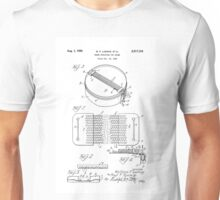 Snare Drum by W.F. Ludwig United States Patent Drawing Design Unisex T-Shirt