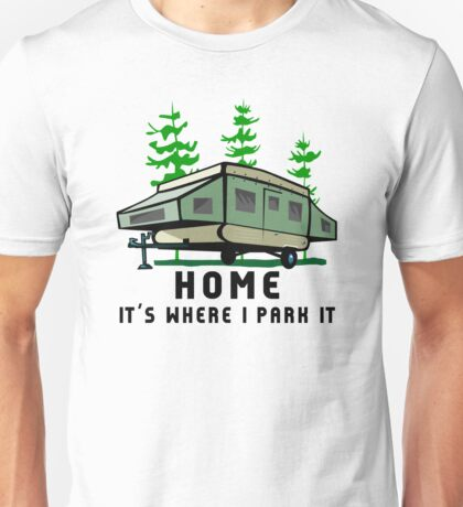 Camping Home Poptop Camper Unisex T-Shirt