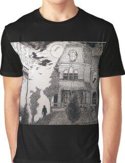 Creepy psycho Inspired Drawing Graphic T-Shirt