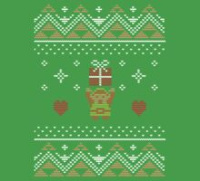 Zelda Christmas Sweater Kids Tee