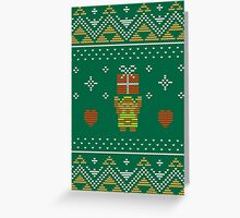 Zelda Christmas Sweater Greeting Card