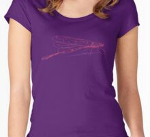 Dragonfly Pink Women's Fitted Scoop T-Shirt