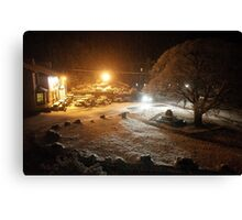 Britannia Inn The Snow Canvas Print