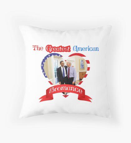 Joe Biden Barack Obama Greatest American Bromance Funny T-shirt Throw Pillow