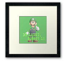 Super Mario Bros. - Luigi Framed Print