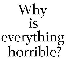 Why is Everything Horrible? Photographic Print