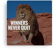"""WINNERS NEVER QUIT"" Canvas Print"