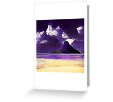 Abstract landscape, modern,trendy,beautiful,contemporary art Greeting Card