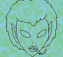 alien grunge girl - transparent by myacideyes