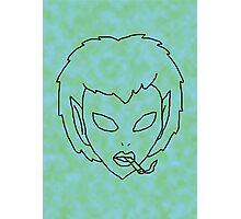 alien grunge girl - transparent Photographic Print